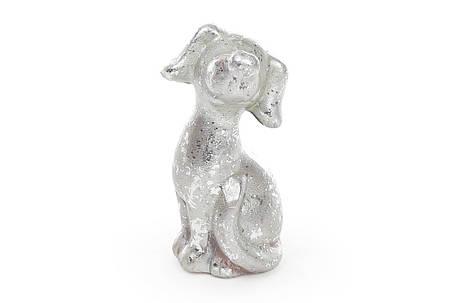 Декоративная статуэтка Собака 8см, цвет - серебро NY01-338, фото 2