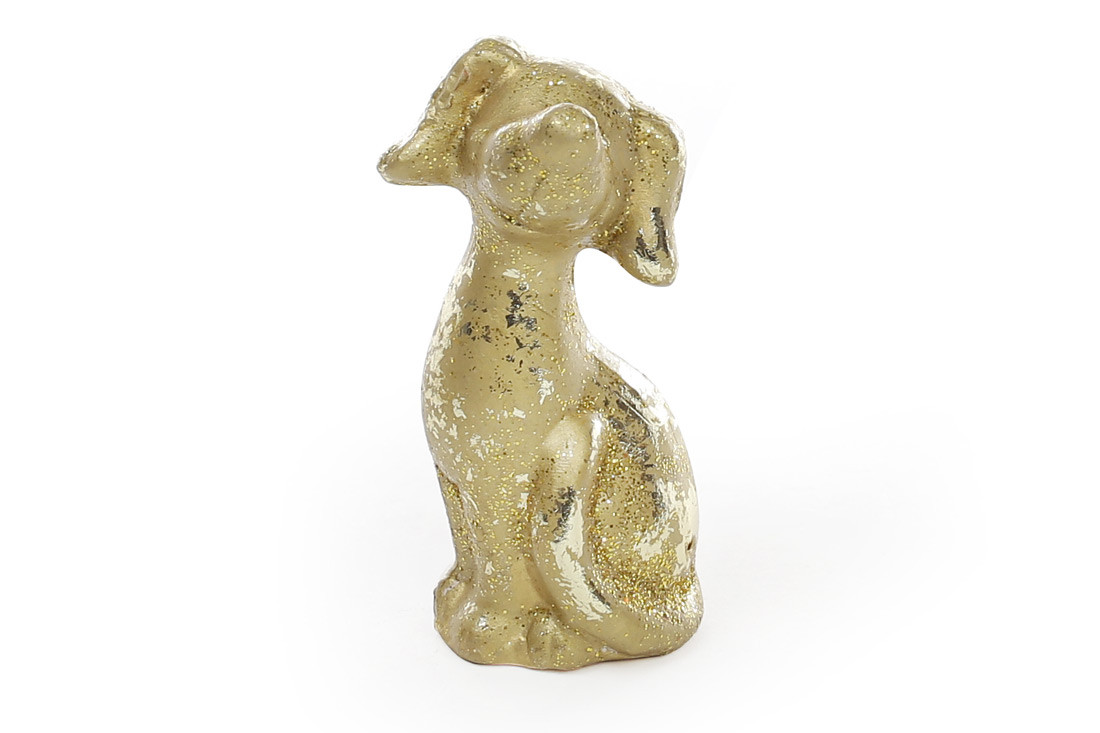Декоративная статуэтка Собака 8см, цвет - золото NY01-337