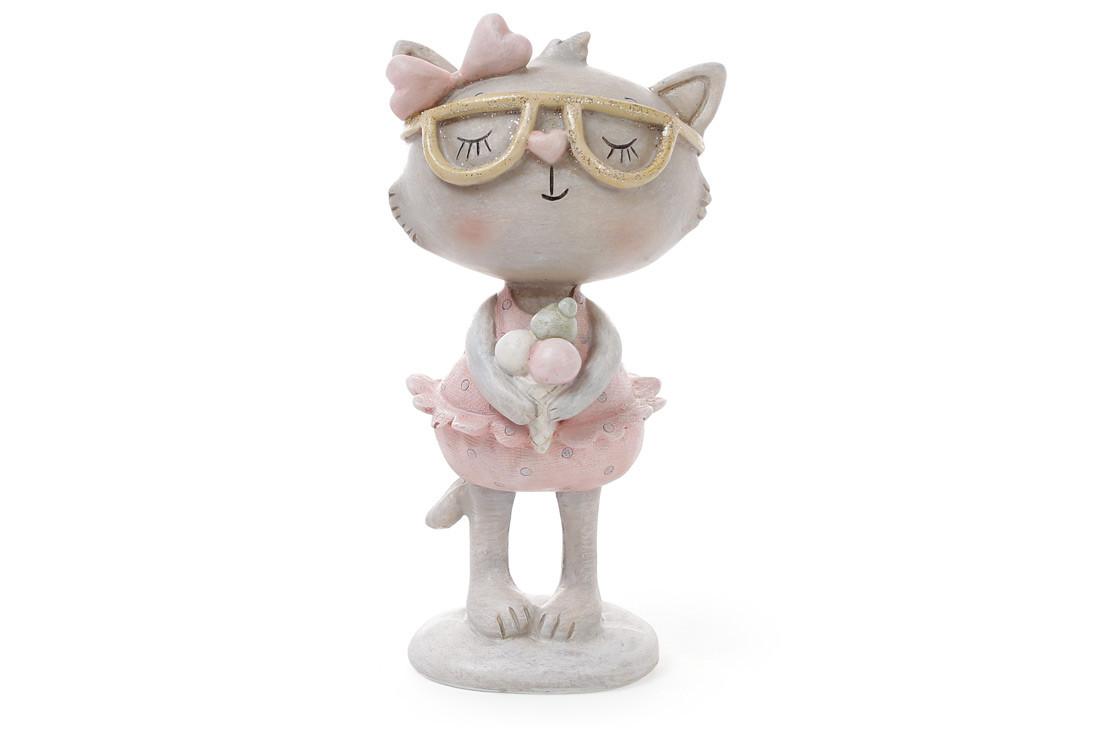 Декоративная фигрука Кошка с мороженым 14.3см 831-740