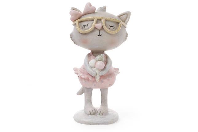 Декоративная фигрука Кошка с мороженым 14.3см 831-740, фото 2