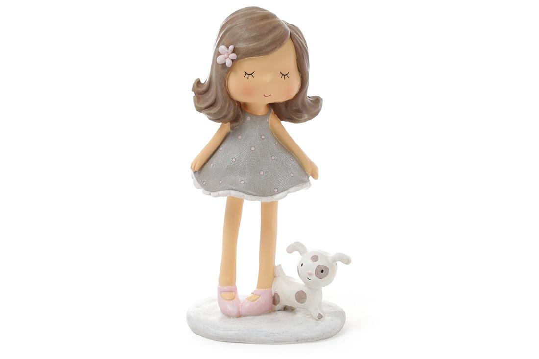 Статуэтка Девочка с собачкой 16см 831-770
