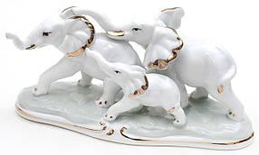 Декоративная статуэтка фарфоровая Слоники 18см 570-E11