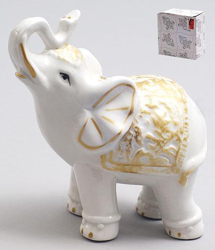 Декоративная фарфоровая статуэтка Слоник 11.5см 231-E12