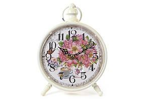 Часы настольные металлические ретро Пионы 412-413