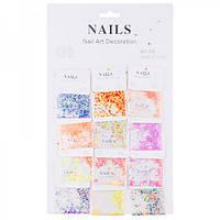 Конфети-пайетки для декора ногтей Nails №318(6-111)