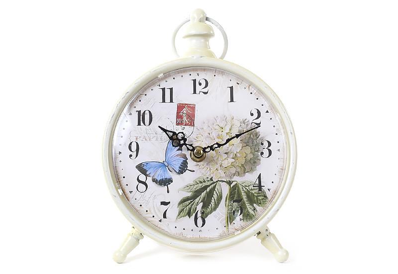 Часы настольные металлические ретро Гортензия 412-415