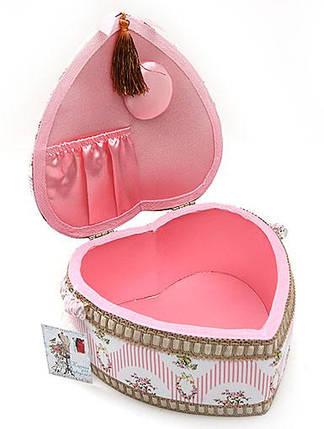 Шкатулка для рукоделия в форме сердца, 24см 400-110, фото 2