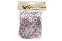 Мишура праздничная, цвет - розовый 147-224