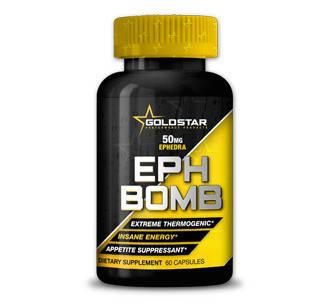 Жиросжигатель GoldStar EPH Bomb (Ephedra + DMAA) 60 caps, фото 2