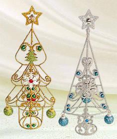 Декоративная елка с шарами 35см, 2 вида 138-E13