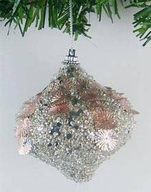 Елочное украшение в форме луковицы, 8см 182-029