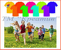 Детские однотонные футболки для детского лагеря оптом, фото 1