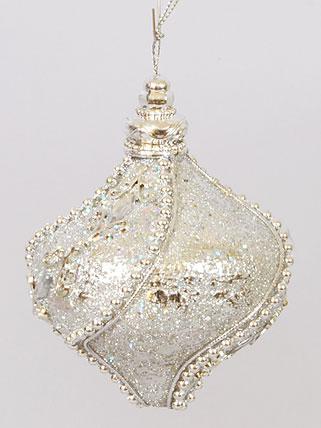 Елочное украшение в форме луковицы, 8см 182-404
