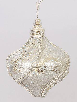 Елочное украшение в форме луковицы, 8см 182-404, фото 2