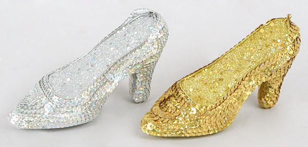 Елочное украшение туфелька, 13см, 2 вида 144-272