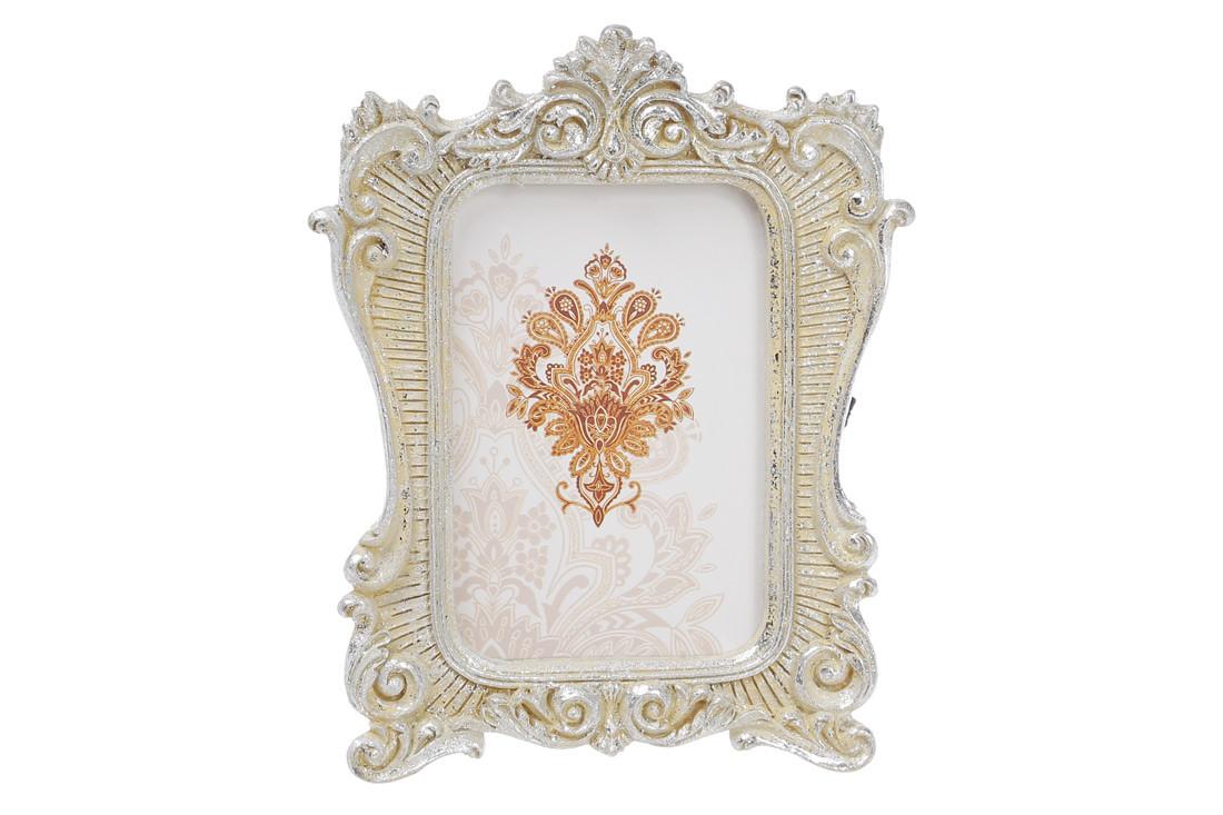 Украшение-подвеска Рамка для фото 12.5см, цвет - серебро с патиной 440-140