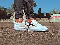 Мужские кеды Vans Old Skool x OFF-White / Ванс Олд Вкул х ОФФ-Вайт | р. 41-45