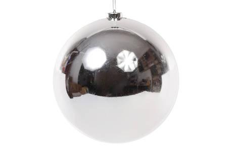 Шар декоративный, 20см, цвет - серебро, глянец 147-178, фото 2