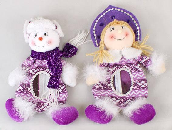Мешочек для конфет Снеговик и Снегурочка, 28см SN28-11, фото 2