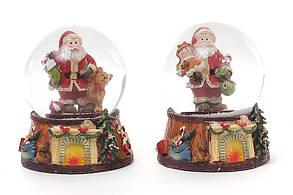 Декоративный водяной шар Санта с подарками 2 вида, в упаковке 6шт. (559-179), фото 2
