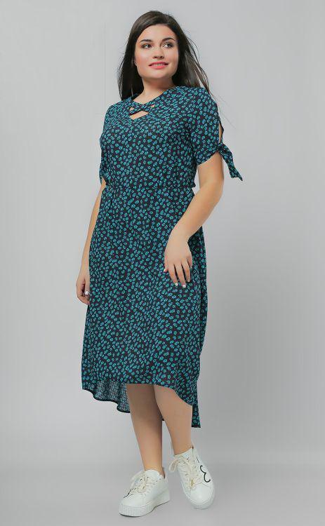 80c85b7b9b8 Летнее платье с асимметричным низом большого размера 50-56 - Styleopt.com в  Харькове