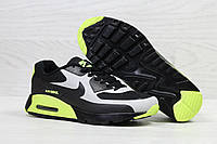 Кроссовки мужские в стиле Nike Air Max код товара SD-5494. Черные с салатовым