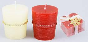 Набор свечей (4 шт) с декором 5.2см, 2 вида 310-119