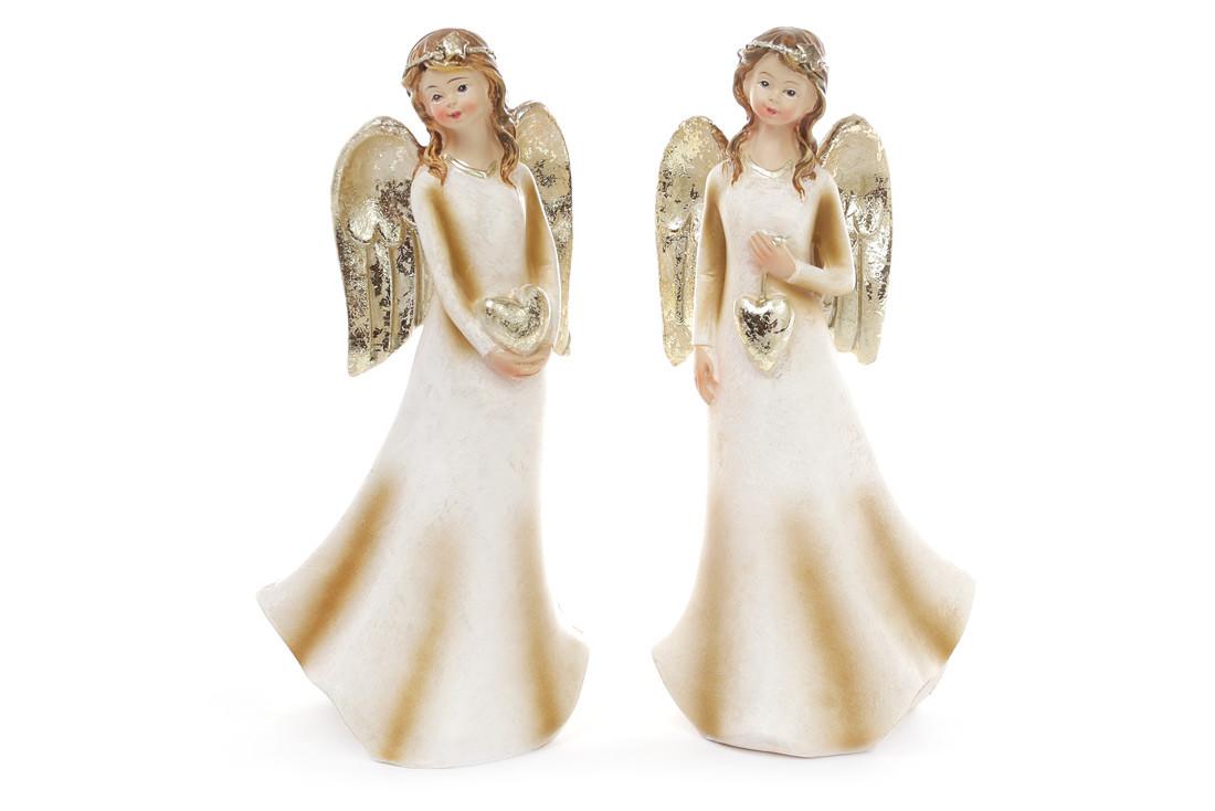 Декоративная фигурка Ангел 17.5см, 2 вида, цвет - шампань 823-330
