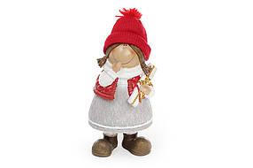 Декоративная фигурка Девочка 22см, цвет - красный с серым 823-100