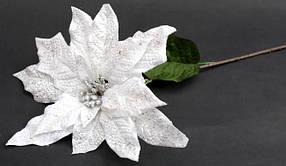 Декоративная пуансеттия белая 72 см 128-F117