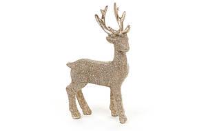 Декоративная статуэтка олень 16см, цвет - шампань 829-318