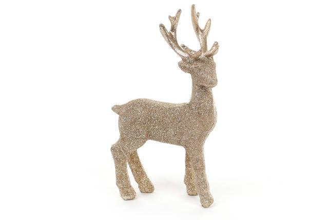 Декоративная статуэтка олень 16см, цвет - шампань 829-318, фото 2