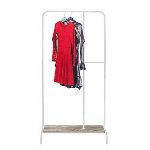 Стойка для одежды Лофт 4 белая (металл/дерево), фото 2