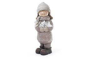 Новогодняя фигура Девочка со звездами 47см 820-103