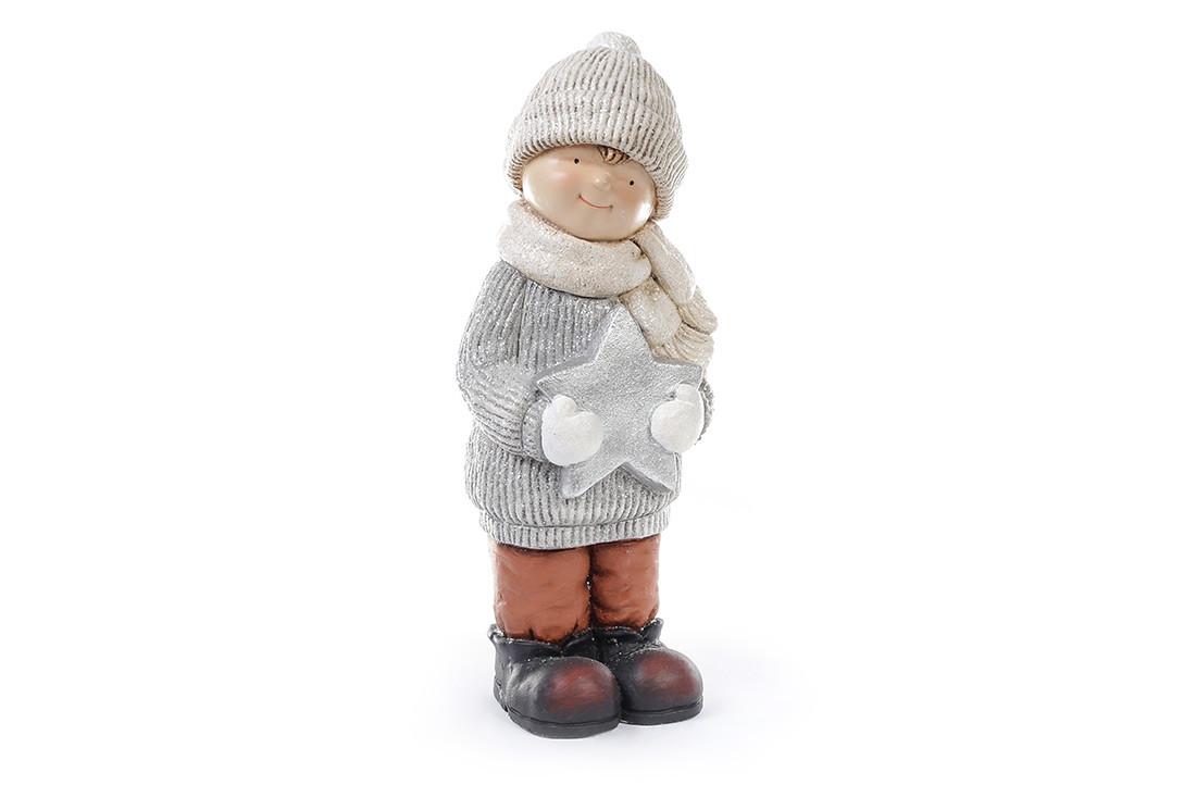 Новогодняя фигура Мальчик со звездой 47см 820-104