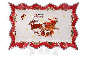 """Блюдо фарфоровое """"С Рождеством!"""", 25см 498-219, фото 2"""