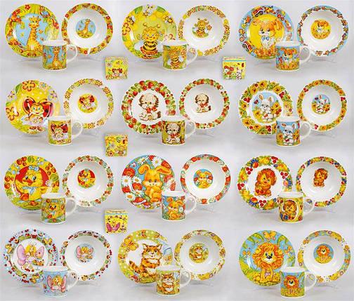 Детский набор: чашка, тарелка, глубокая тарелка, 12 видов CS170, фото 2