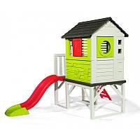 Детский игровой домик на платформе (сваях) Smoby с горкой 810800, фото 1