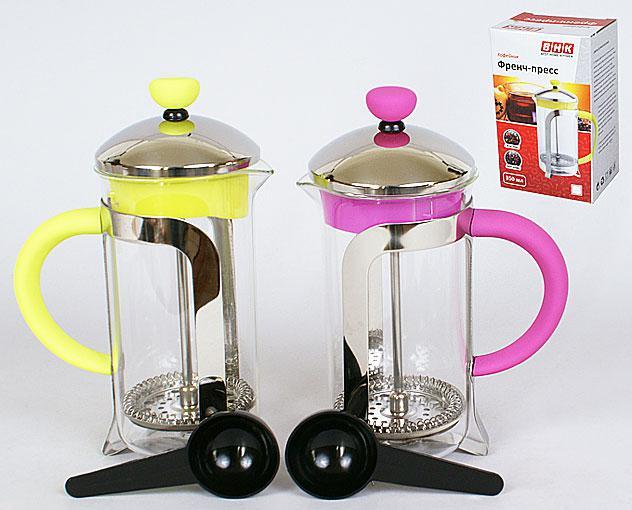 Заварочный чайник с пластиковой ложкой 350мл, 2 вида 535-A10