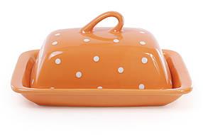 Масленка, цвет - оранжевый в белый горошек 593-241