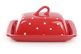 Масленка, цвет - красный в белый горошек 593-209