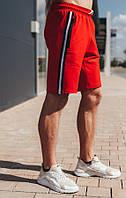 Молодежные  мужские шорты красного цвета.