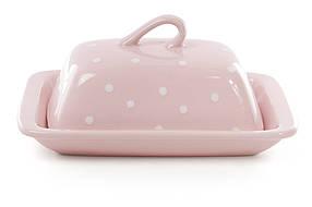 Масленка, цвет - розовый в белый горошек 593-211