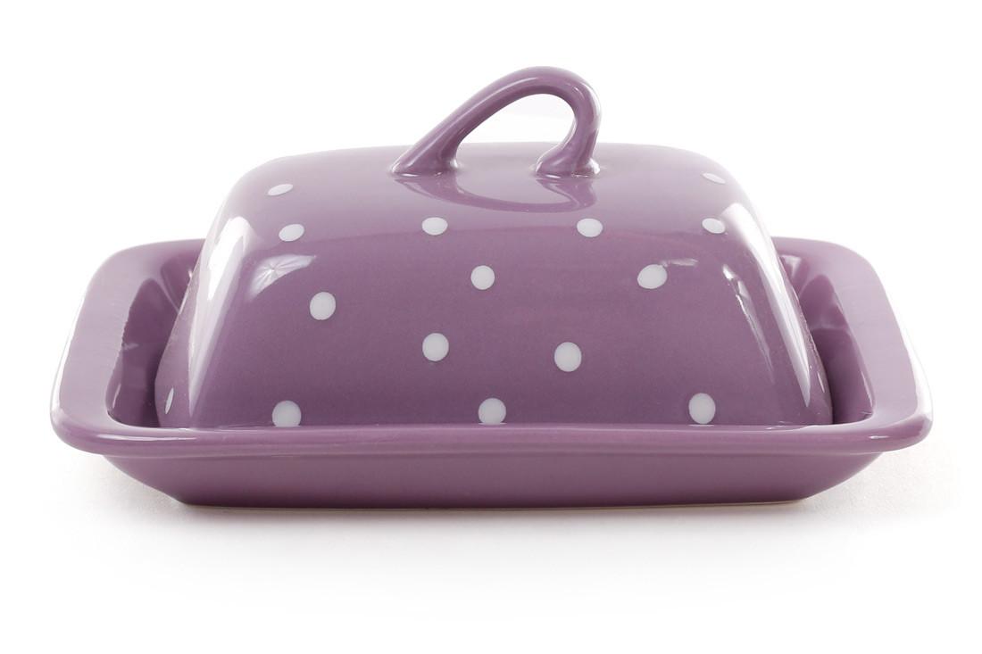 Масленка, цвет - фиолетовый в белый горошек 593-210