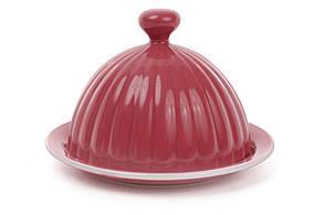 Масленка керамическая 14см, цвет - клубника 344-077, фото 2