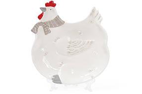 Тарелка Курочка 27.5см, цвет - белый 834-719