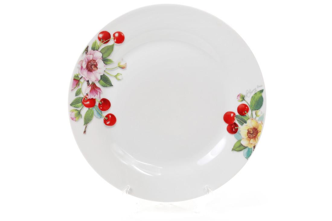 Обеденная фарфоровая тарелка 23см Вишня 970-203