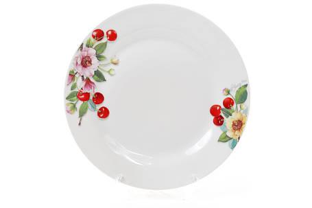 Обеденная фарфоровая тарелка 23см Вишня 970-203, фото 2
