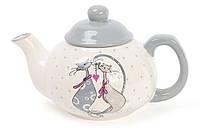 Чайник керамический 790мл с объемным рисунком Влюбленные коты DM488-L