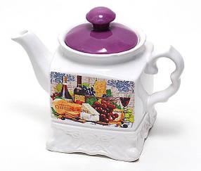 Чайник керамический 1000мл Cheese&Wine DU488-W